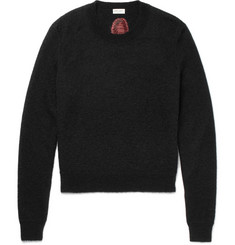 Saint Laurent Intarsia Mohair-Blend Sweater