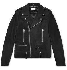 Saint Laurent Suede Biker Jacket