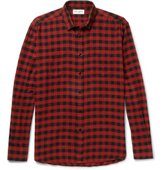 Saint Laurent - Buffalo Checked Cotton-Flannel Shirt