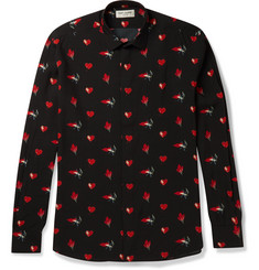 Saint Laurent Printed Poplin Shirt