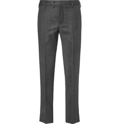 Saint Laurent Slim-Fit Herringbone Wool Trousers