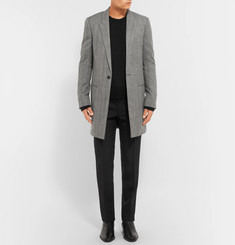 Saint Laurent Herringbone Wool Coat