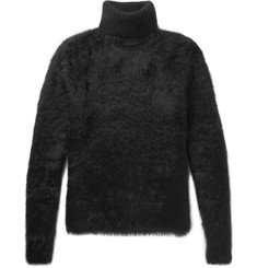 Saint Laurent Textured-Knit Rollneck Sweater