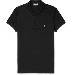 Saint Laurent Cotton-Piqué Polo Shirt