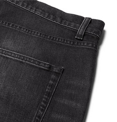 Saint Laurent Skinny-Fit 15cm Hem Washed Stretch-Denim Jeans
