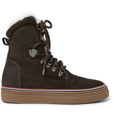 Moncler Joris Shearling-Lined Suede Boots
