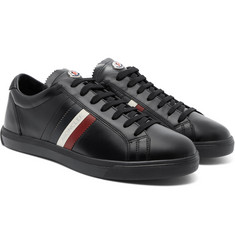 Moncler - La Monaco Striped Leather Sneakers