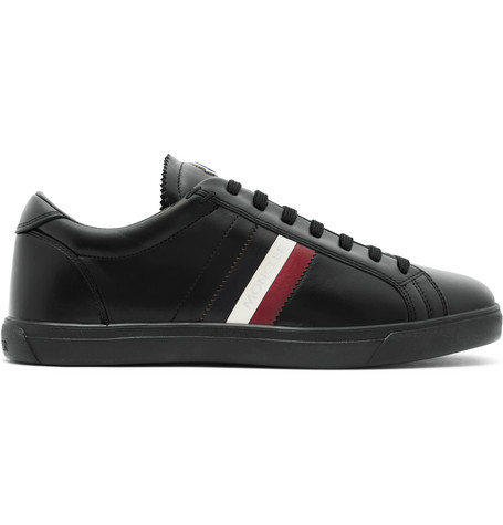 La Monaco Leather-trimmed Suede Sneakers - NavyMoncler ALJW4w85JY