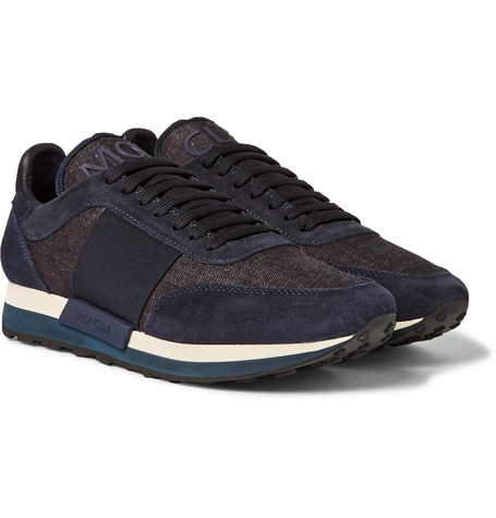 Horace Suede And Denim Sneakers