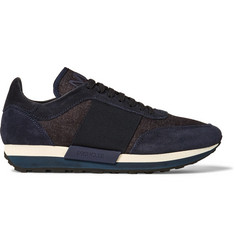 Moncler Horace Suede and Denim Sneakers