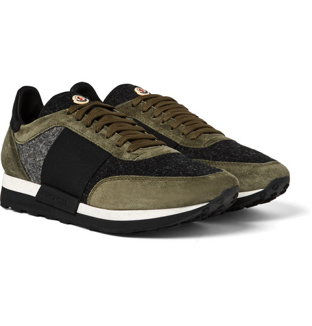 Horace Suede And Felt Sneakers - Army green