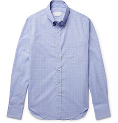 Prada Slim-Fit Button-Down Collar Checked Cotton-Poplin Shirt