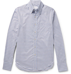Prada Button-Down Collar Checked Cotton-Twill Shirt