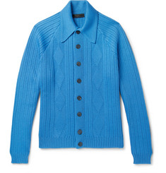 Prada Jacquard-Knit Virgin Wool Cardigan