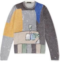 Prada Printed Angora-Blend Sweater