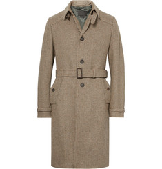 Prada Tweed Virgin Wool Coat