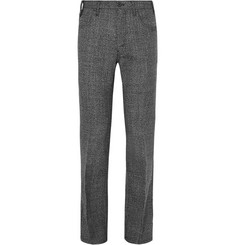 Prada - Slim-Fit Virgin Wool-Tweed Trousers