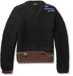 Prada - Colour-Block Virgin Wool Sweater