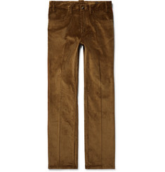 Prada Two-Tone Cotton-Corduroy Trousers