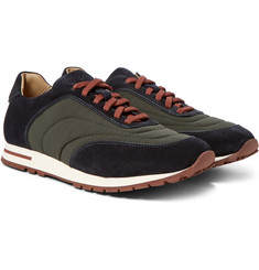 Loro Piana - Weekend Walk Suede and Textured-Shell Sneakers