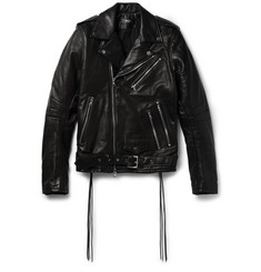 AMIRI Rider Slim-Fit Tasselled Leather Biker Jacket