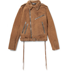 AMIRI Slim-Fit Tasselled Shearling Biker Jacket