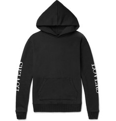 AMIRI Lovers Printed Loopback Cotton-Jersey Hoodie