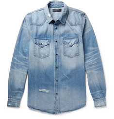 AMIRI Distressed Denim Shirt