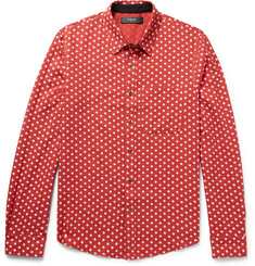 AMIRI Slim-Fit Polka-Dot Cotton and Cashmere-Blend Shirt