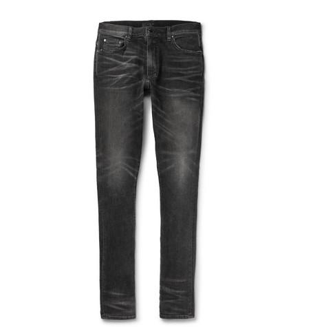 99d184ff384 Amiri Stack Skinny-Fit Stretch-Denim Jeans In Black   ModeSens
