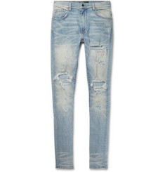 AMIRI Shotgun Skinny-Fit Distressed Stretch-Denim Jeans