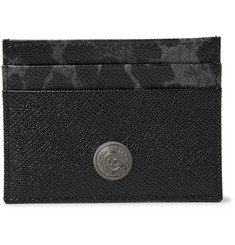 Dolce & Gabbana Printed Cross-Grain Leather Cardholder