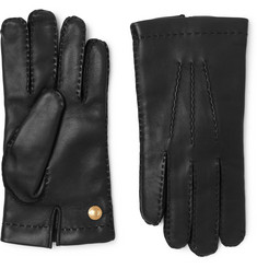 TOM FORD - Cashmere-Lined Full-Grain Leather Gloves