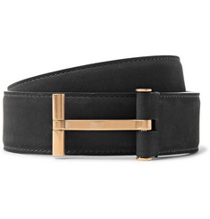 TOM FORD - 4cm Black Nubuck Belt