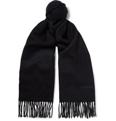 TOM FORD - Double-Faced Cashmere Scarf