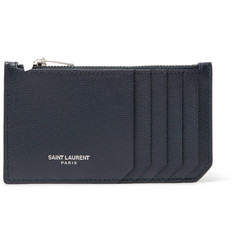 Saint Laurent Pebble-Grain Leather Zipped Cardholder
