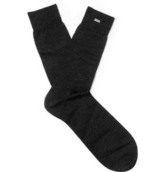 Saint Laurent Mélange Cashmere Socks