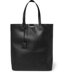 Saint Laurent Full-Grain Leather Tote Bag