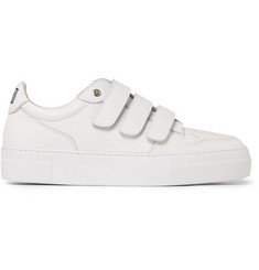 AMI Textured-Leather Sneakers