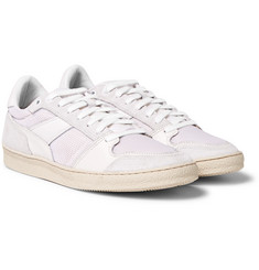 AMI - Leather, Suede and Mesh Sneakers