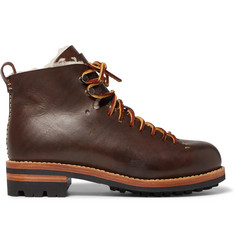 Feit Hiker Shearling-Lined Leather Boots