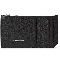 Saint Laurent Pebble-Grain Leather Cardholder