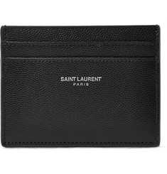 Saint Laurent - Pebble-Grain Leather Cardholder