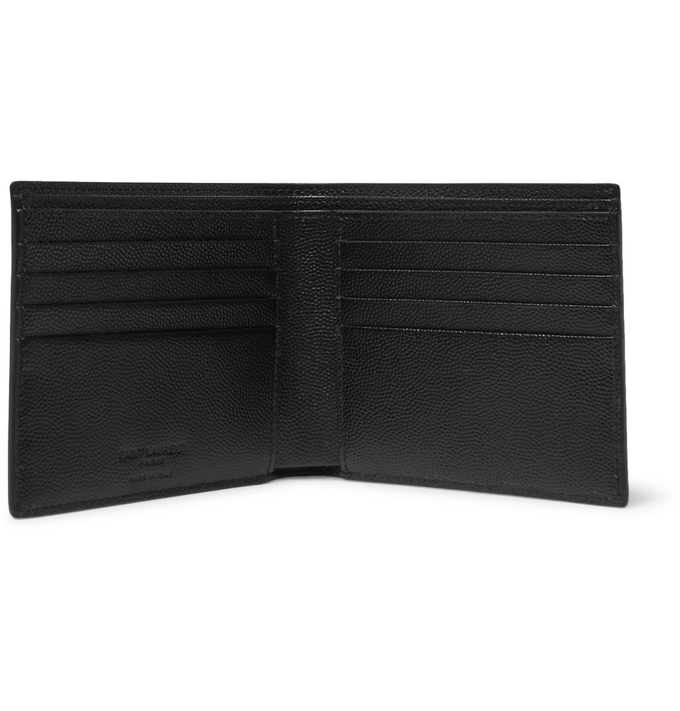 Saint Laurent Grained-Leather Billfold Wallet