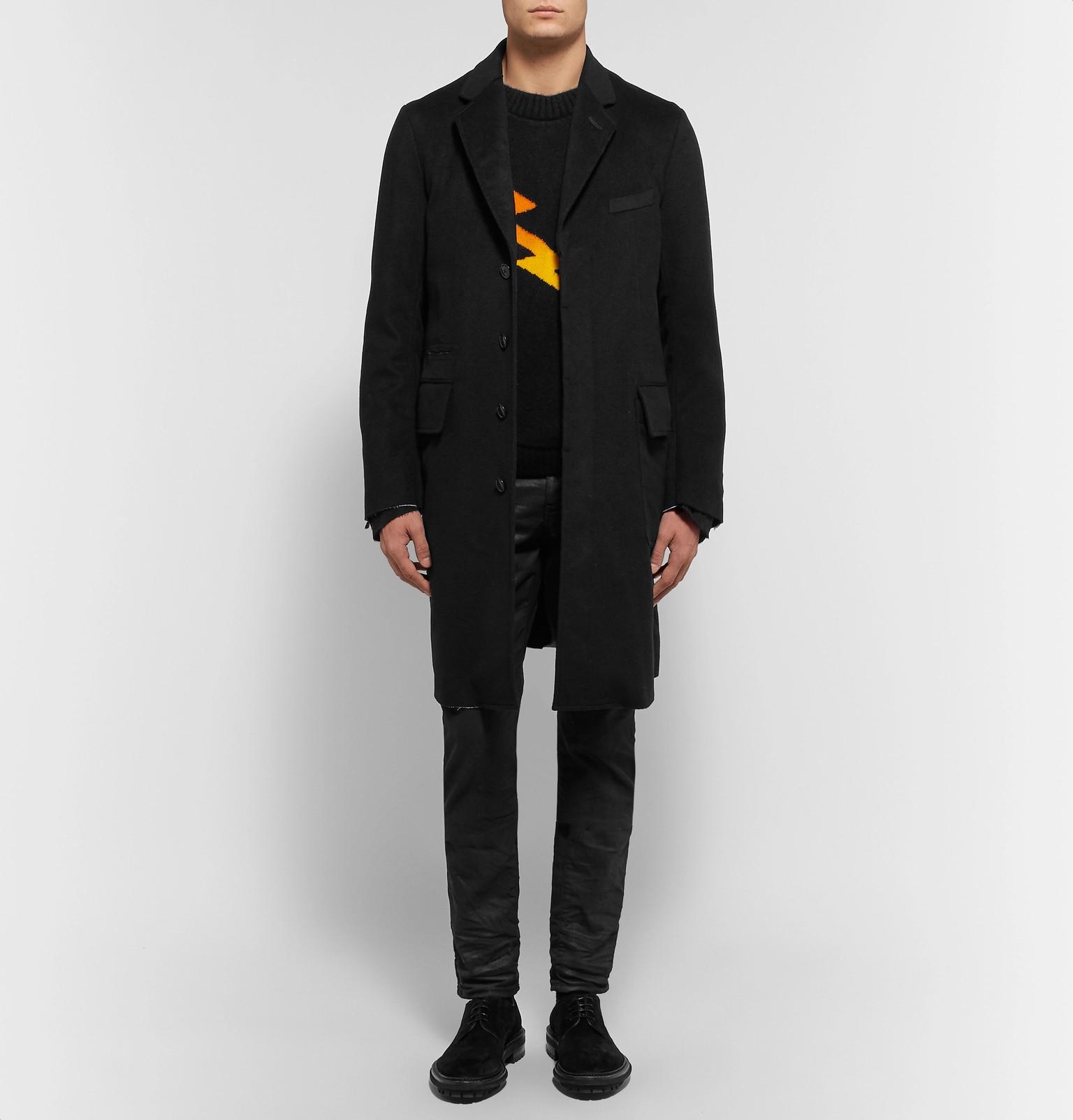 Thesoloist Cashmere Fit Blend Slim Coat Black And Takahiromiyashita tpdqqP
