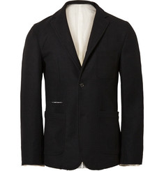 TAKAHIROMIYASHITA TheSoloist. Black Slim-Fit Unstructured Wool Blazer
