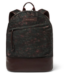 WANT LES ESSENTIELS Kastrup Leather-Trimmed Printed Nylon Backpack