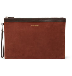 WANT LES ESSENTIELS Barajas Nubuck and Leather Pouch
