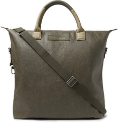 WANT LES ESSENTIELS - O'Hare Leather-Trimmed Waxed Organic Cotton-Canvas Tote Bag