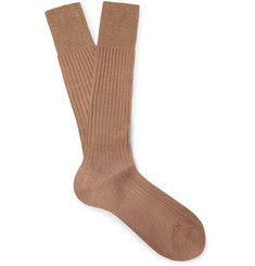 Prada - Ribbed Cotton Socks